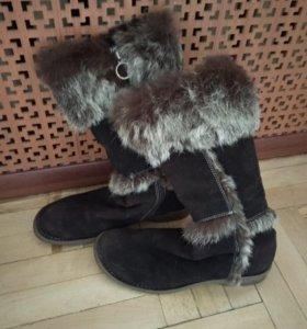 Зимние сапоги Corso Como, натуральный мех и замша