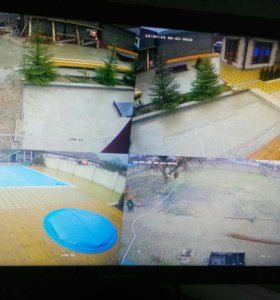 Комплект видеонаблюдения на 4 камеры качества 2 Мп