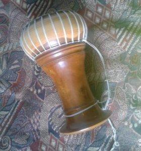 Барабан из натуральной кожи и дерева.Камбоджа