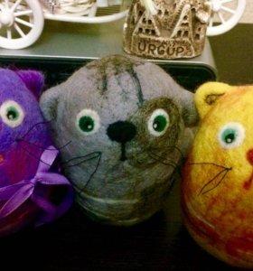 Валяные котята