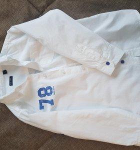 Рубашка для мальчика белая 116 р