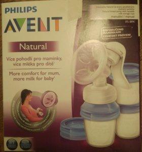 Молокоотсос Philips Avent ручной в комплекте с кон