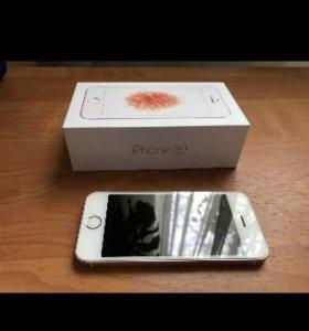 Айфон 5se 16 гиг розовое золото идеал,оригинал!