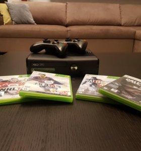 Xbox 360 S -250 Гб- (4 Игры и 2 в подарок)