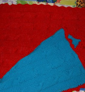 Плед, одеяло, ручная вязка