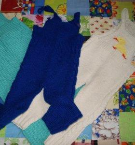 Комбинезон детский вязаный (штаны)