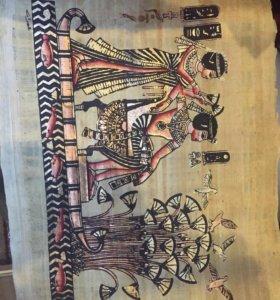 Картина на бамбуковом папирусе.