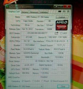 AMD Radeon R7 350 2gb GDDR5 128 bit