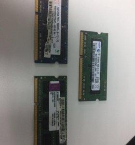 Ddr3 оперативная память для ноутбука. По 2 гига