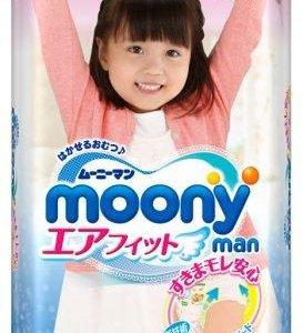 Трусики Moony для девочек XL (12-17 кг) 38шт новые