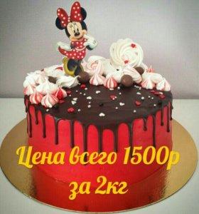 Тортики на заказ 800р!!!Свадебные торты от 800руб