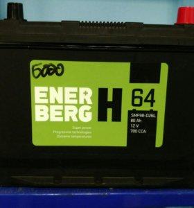 Аккумулятор Enerberg 80Ач 700A D26L (Болгария)