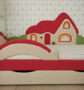 Детская диван-кровать Домик
