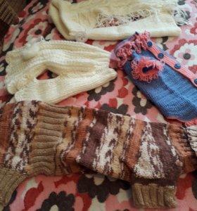 Одежда для кошек собак вязанная