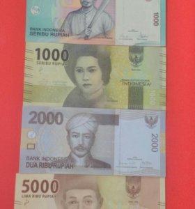 Банкноты, боны, купюры Индонезии.