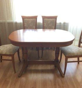 Стол массив дуба + стулья