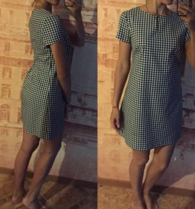 Платье в мелкую клетку