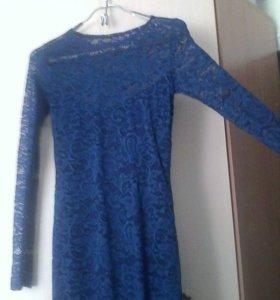Платье гипюрова