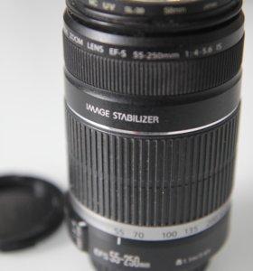 Объектив Canon EF-S 55-250mm f/4-5.6 IS