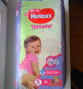 Подгузники трусики Huggies 5 для девочек