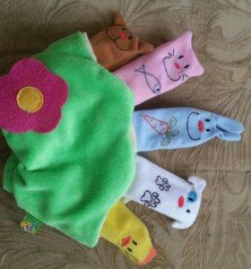 Перчатка с пальчиками-игрушками!