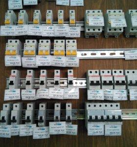 Розетки,выключатели;LED Лампочки; Автоматы; Боксы.