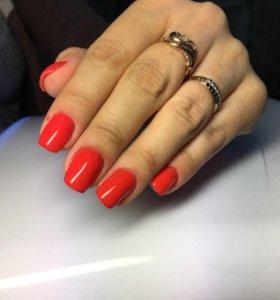 Покрытие гель-лаком, наращивание ногтей