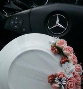 Тарелка свадебная