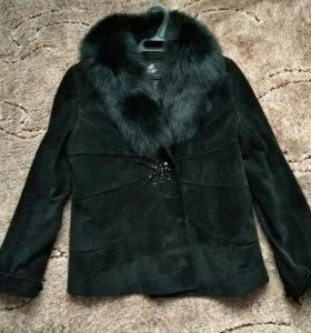 Натуральная замшевая куртка (МЕХ: песец