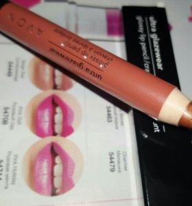 Глянцевая помада-карандаш для губ