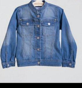Куртка джинсовая, р.98,104,122, новая