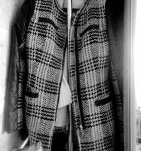 Пальто весна комбинированое