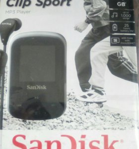 Плеер Sandisk clip sport mp3 4GB