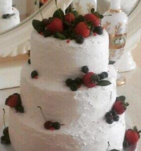 Свадебные Тортики домашние на заказ