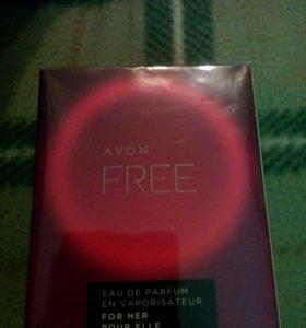 Папфюмерная вода Avon Free для нее