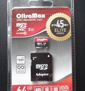 Карта памяти olta MAX 64 Gb новая в заводской упак