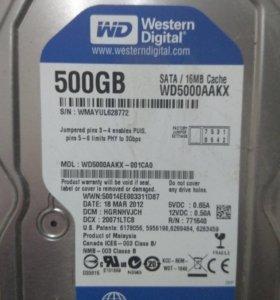Жесткий диск WD 500гб