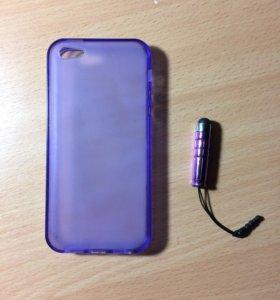 Чехол на IPhone 5/5s/SE + стилус для телефона