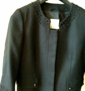 Жакет черный 46-48р.модель Коко Шанел на подкладке