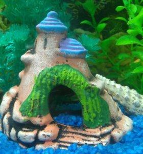 домики для аквариума