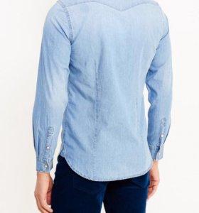 Джинсовая рубашка Benetton, новая, размер 52