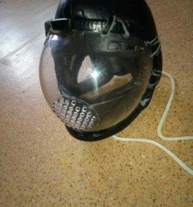 Шлем на шнуровке, с пластиковой маской