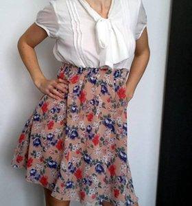 шифоновое  платье Зефирка