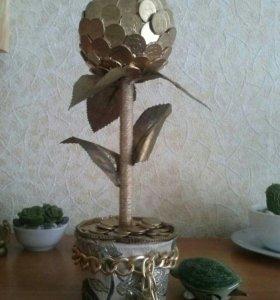 Денежное дерево ( отличный подарок на торжество)