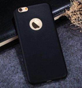 Черный силиконовый чехол для Iphone 6+/6s+