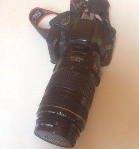 Canon 550 . Объектив canon 70-300