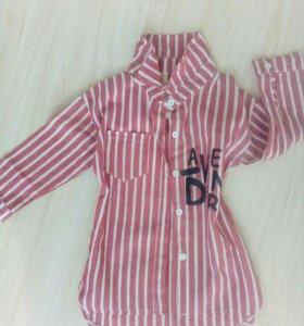 Рубашка удлиненная для девочки,размер 90-100см