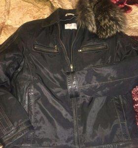 Куртка 2 в 1 (зимняя подстежка и мех)мужская