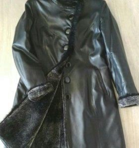 Куртка осеняя кожаная