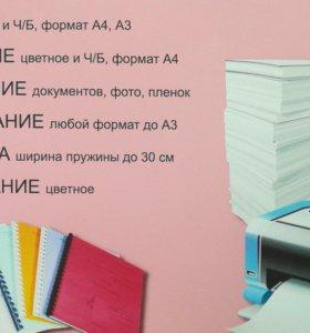 Набор текста, распечатка, сканирование и т.д.